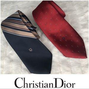 Christian Dior Tie Bundle Of 2